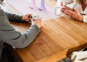 De keukentafel of een vergadering?